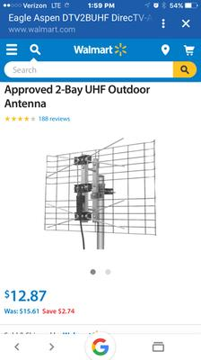 Eagle Aspen DTV2BUHF DirecTV-Approved 2-Bay UHF Outdoor Antenna ...