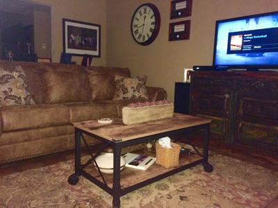 Better Homes And Gardens Rustic Country Coffee Table, Antiqued Black/Pine  Finish   Walmart.com