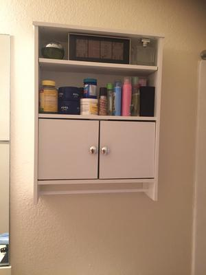 mainstays 2-door wood wall cabinet, white - walmart