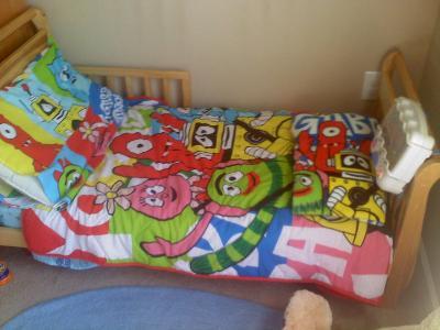 discontinued yo gabba gabba 4 piece toddler bedding set walmart com