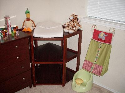 Badger Basket Diaper Corner Changing Table, Cherry   Walmart.com