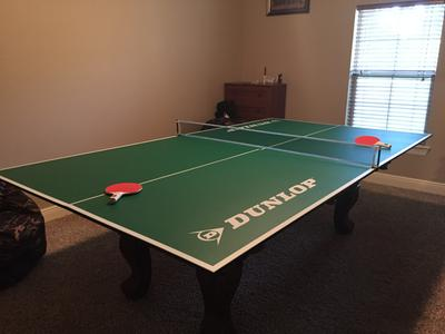 Dunlop Official Size Table Tennis Conversion Top With Premium Clamp Style  Net And Post   Walmart.com