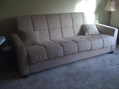 Baja ConvertACouch Futon Sofa Bed Khaki Walmartcom