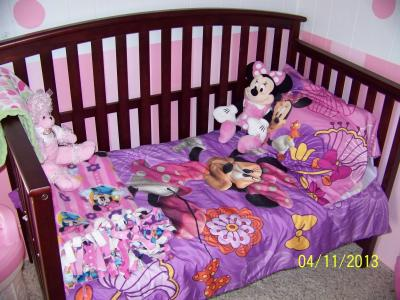 Fancy Disney Minnie Mouse Fluttery Friends Piece Toddler Bedding Set Walmart