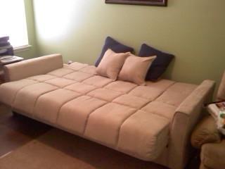 Baja Convert A Couch Futon Sofa Bed, Khaki   Walmart.com