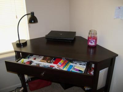 Sauder Beginnings Corner Computer Desk, Cinnamon Cherry   Walmart.com