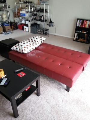 Faux Leather Bycast Adjustable Futon Sofa, Multiple Colors   Walmart.com