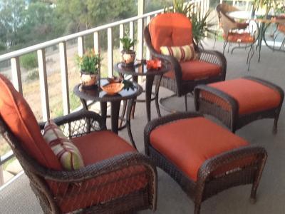 Better Homes and Gardens Azalea Ridge Ottomans Set of 2 Walmartcom