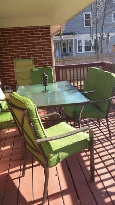 Mainstays Crossman 7Piece Patio Dining Set Green Box 1 of 2