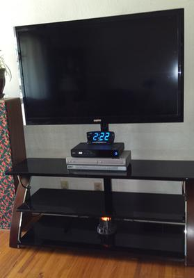 whalen brown cherry 3in1 flat panel tv stand for tvs up to 65 walmartcom - Flat Panel Tv Stands