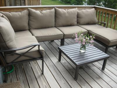 Awesome Mainstays Sandhill 7 Piece Outdoor Sofa Sectional Set, Seats 5   Walmart.com
