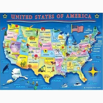 The Learning Journey Lift And Learn USA Map Puzzle Walmartcom - Walmart us map