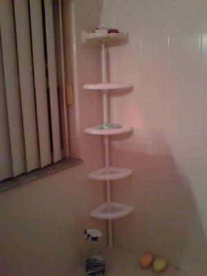 Mainstays 4 Tier Tub And Shower Tension Pole Caddy White
