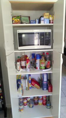 White Kitchen Pantry orion 4-door kitchen pantry, white - walmart