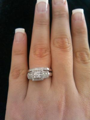 always and forever 13 carat tw diamond sterling silver and platinum bridal ring set walmartcom - Walmart Wedding Rings Sets