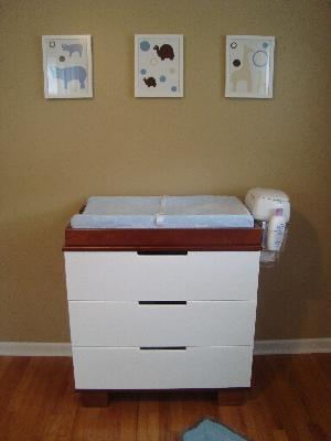 Baby Mod   ParkLane 3 Drawer Changer, Amber And White   Walmart.com