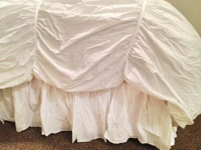 Greenland Home Fashions Cotton Voile Bed Skirt 15 Drop Walmartcom