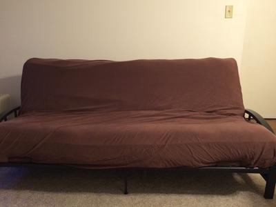 aiden metal futon frame black walmartcom