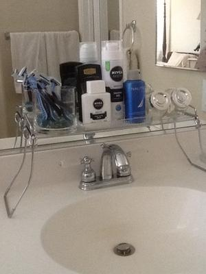Bathroom Sinks At Walmart mainstays over the sink shelf, chrome - walmart