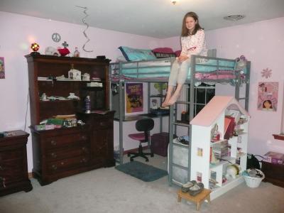 Dorel DHP Full Metal Loft Bed Over Workstation Desk, Multiple Colors    Walmart.com