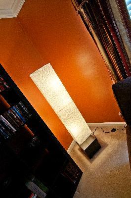 Hometrends dark wood floor lamp walmart mozeypictures Images