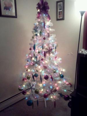 finest holiday time prelit u madison pine artificial christmas tree white multicolor lights walmartcom with walmart christmas tree - Walmart White Christmas Tree