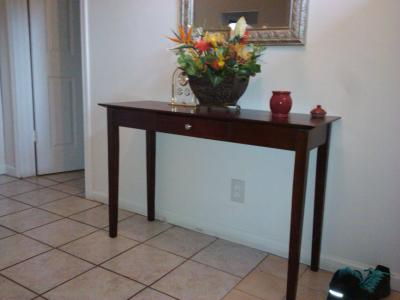 Winsome Rochester Console Table With One Drawer In Antique Walnut    Walmart.com