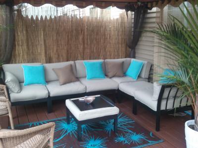 Mainstays Ragan Meadow II 7Piece Outdoor Sectional Sofa Seats 5