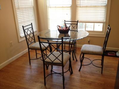 Superb Mainstays 5 Piece Glass Top Metal Dining Set   Walmart.com