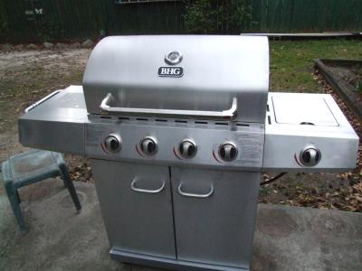 Better Homes And Gardens 4 Burner Gas Grill, Stainless Steel   Walmart.com