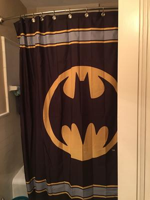 Batman Logo Fabric Shower Curtain   Walmart.com
