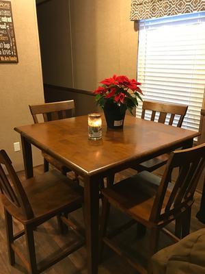 mainstays 5-piece counter-height dining set- cherry - walmart
