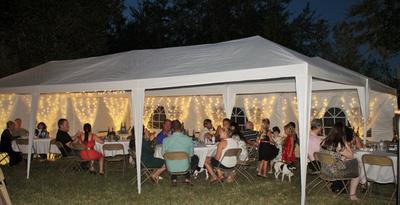 PALM SPRINGS 10u0027 x 30u0027 Party Tent Wedding Canopy Gazebo Pavilion w/Side Walls - Walmart.com & PALM SPRINGS 10u0027 x 30u0027 Party Tent Wedding Canopy Gazebo Pavilion w ...