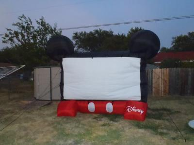 Disney Mickey Mouse Inflatable 10ft Diagonal Outdoor Movie Screen For  Backyard Theater   Walmart.com