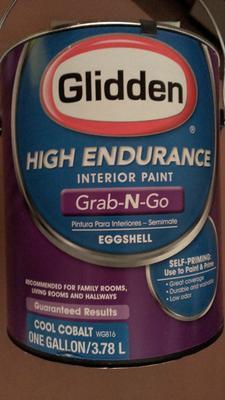 Glidden High Endurance Grab N Go, Interior Paint And Primer, Eggshell  Finish, Granite Grey, 1 Gallon   Walmart.com