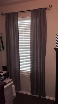 Mainstays Textured Solid Curtain Panel   Walmart.com