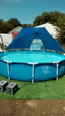 Intex Pools intex pool canopy for 12-18' above-ground round metal frame and