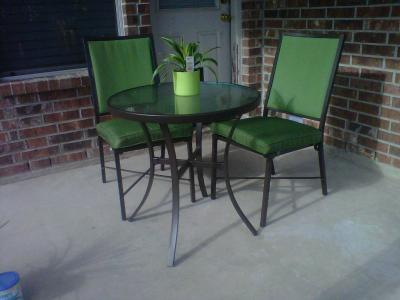 Mainstays Crossman 3 Piece Outdoor Bistro Set, Green, Seats 2   Walmart.com