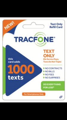 TracFone 1000 Text Message Card (Email Delivery) - Walmart.com