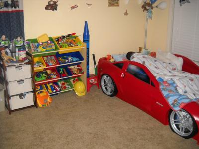 Step2 Corvette Convertible Toddler To Twin Bed With Lights, Red    Walmart.com