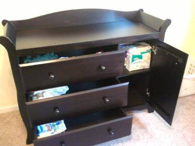 Storkcraft Aspen Combo 3 Drawer Dresser Choose Your Finish