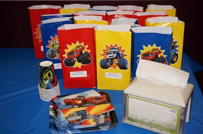 Red paper party favor bags 12pk walmart negle Image collections