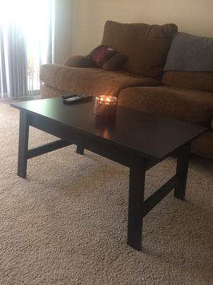 oak and black coffee table : axiomatica