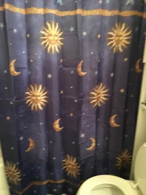 Mainstays Fabric Shower Curtain Celestial