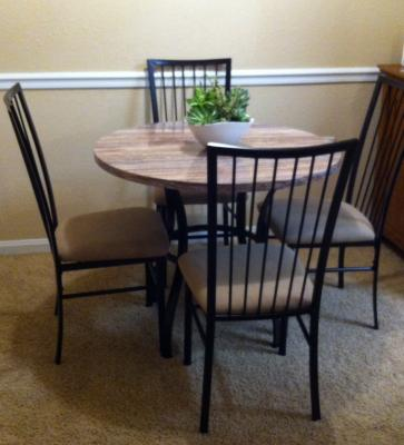 Darell Faux Marble Top 5 Piece Dining Set   Walmart com. Faux Marble Dining Set Walmart. Home Design Ideas
