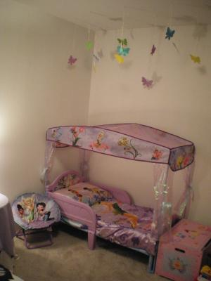 & Disney Tinkerbell Fairies Toddler Bed with Canopy - Walmart.com
