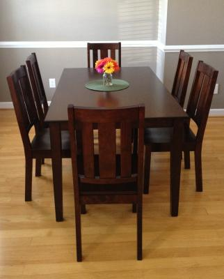 Better Homes and Gardens Bankston Dining Table Mocha Walmartcom