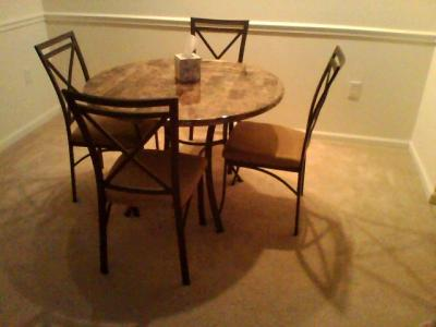 Mainstays 5 Piece Faux Marble Top Dining Set   Walmart com. Faux Marble Dining Set Walmart. Home Design Ideas