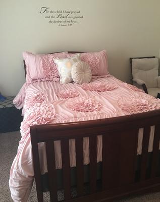 better homes and gardens kids ruffled flowers bedding comforter set walmartcom