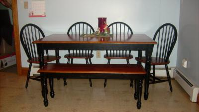 Captivating Better Homes And Gardens Autumn Lane Farmhouse Dining Table, Black And Oak    Walmart.com